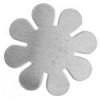 Metal Blank 24ga German Silver Flower 24mm No Hole